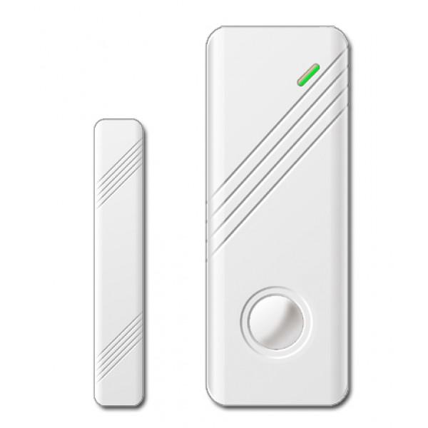 Sensore magnetico per porte e finestre wireless slim bianco per sistemi di allarme - Sistemi di sicurezza per porte e finestre ...