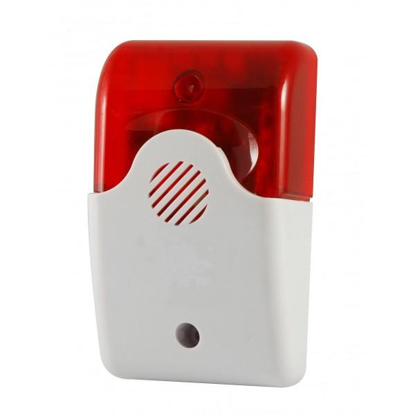 Sirena wireless senza fili 110 db lampeggiante per sistemi di allarme - Allarme per casa senza fili ...